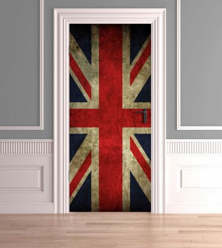Stickerele decorative, pentru uși, Steagul Marii Britanii, 1 foaie de 80 x 200 cm