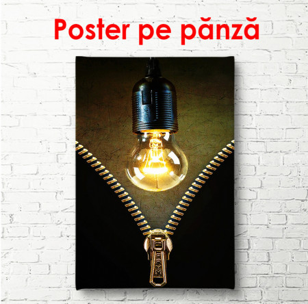 Poster, Fermuar și bec