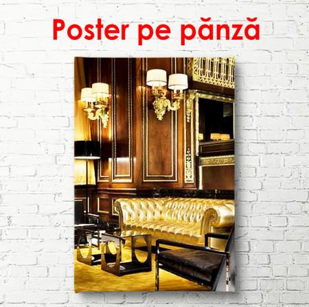 Poster, Interior strălucitor cu canapele aurii