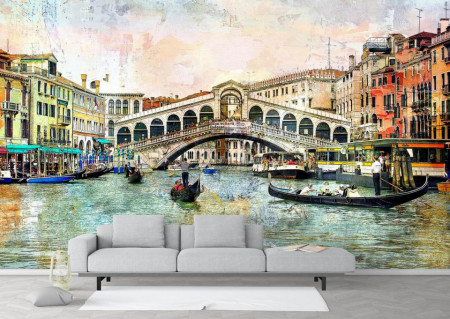 Fototapet Fresco, Plimbarea prin Veneția