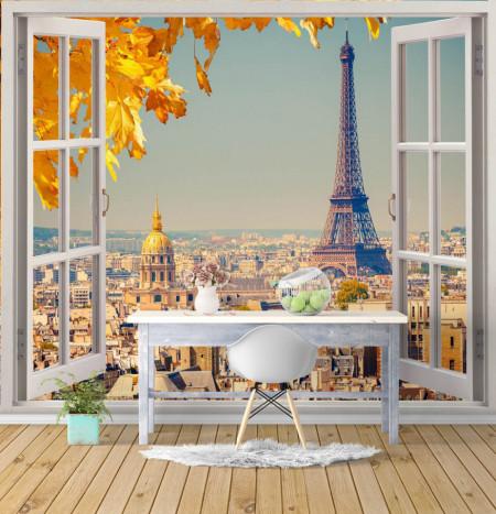 Fototapet, Priveliște frumoasă de la fereastră