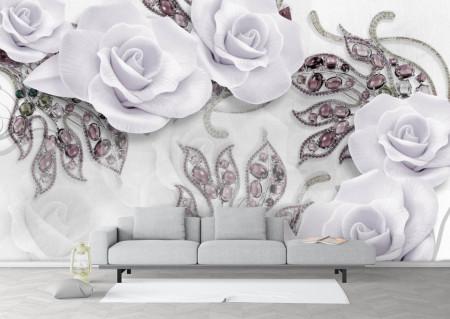 Fototapete 3D, Trandafiri mov