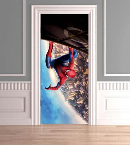 Stickerele decorative, pentru uși, Omul păianjen, 1 foaie de 80 x 200 cm