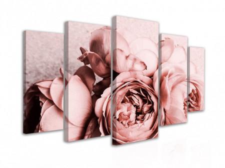 Tablou modular, Bujori roz