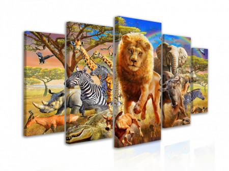 Tablou modular, Lumea animalelor