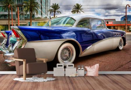 Fototapet, Cadillacul albastru