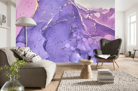 Fototapet, Fluid violet-auriu