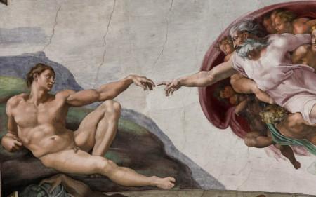 Fototapet Fresco, Michelangelo și Capela Sixtină