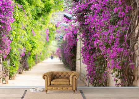 Fototapet, Gardul acoperit de flori
