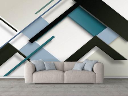 Fototapete, Abstracție geometrică albastră