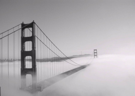 Fototapete, Podul acoperit de ceață