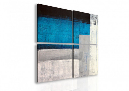 Multicanvas, Pete albastre abstracte.