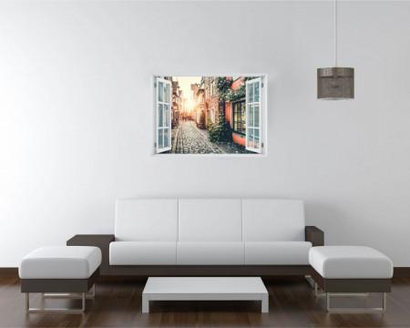Stickere pentru pereți, Fereastra cu vedere spre un cartier plăcut
