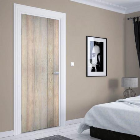 Stickerele decorative, pentru uși, Ușa din scânduri din lemn , 1 foaie de 80 x 200 cm