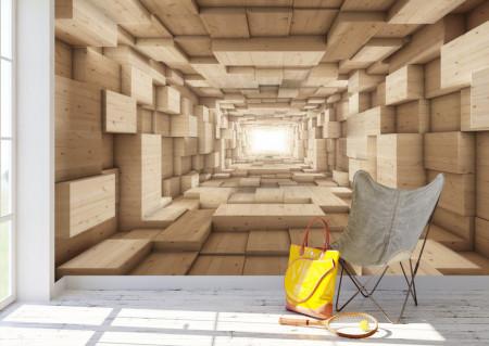 Fototapet 3D, Textura lemnului