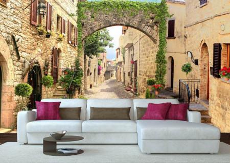 Fototapet Fresco, Curtea frumoasă într-un oraș vechi