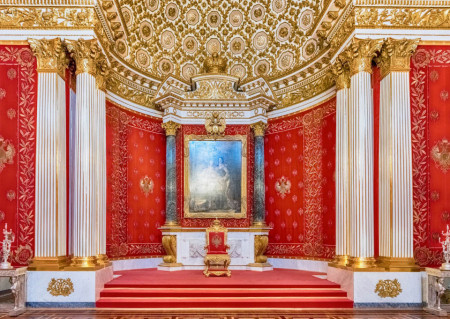 Fototapet Interior, O încăpere în stil clasic cu coloane