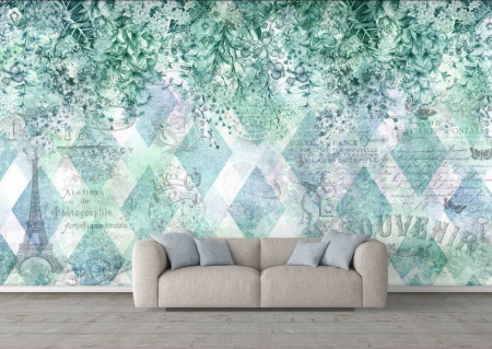 Fototapete, O abstracție verde gingașă