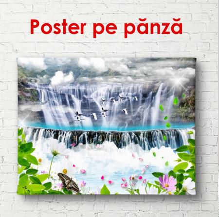 Poster, Cascada și cocostârci zburători