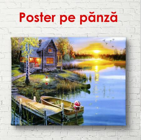 Poster, Colibă lângă iaz