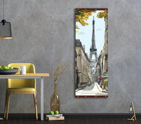 Roll-up, Acuarelă cu Turnul Eiffel