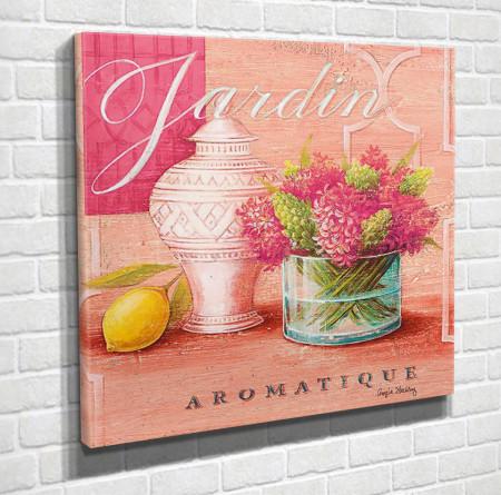 Tablouri Canvas, Vaza cu flori roz pe un fond roz