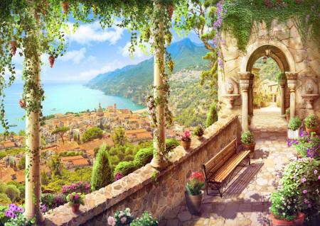 Fototapet Fresco, Fototapete cu vederea la balcon până la peisajul lacului