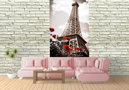 Fototapet Orase, Flori pe fundalul Turnului Eiffel
