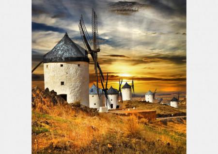 Fototapet Orase, Mori de vânt în câmpie