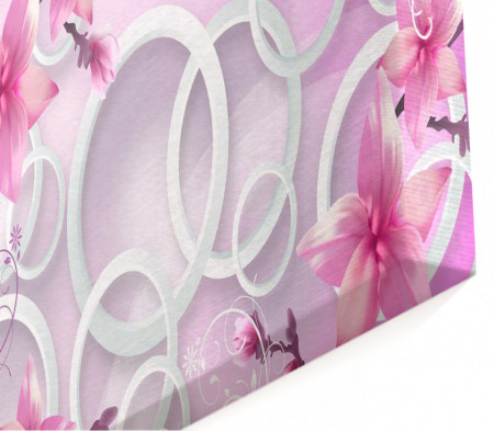 Multicanvas, Flori abstracte de culoare roz