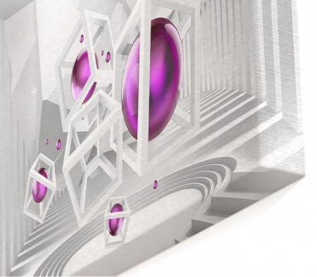 Multicanvas, Mingea de culoare liliac pe fundal 3D.
