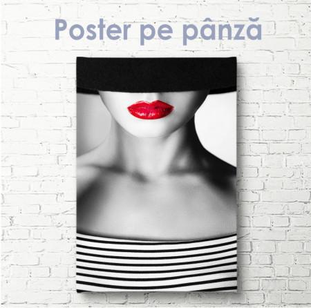Poster, Fată cu buze roșii