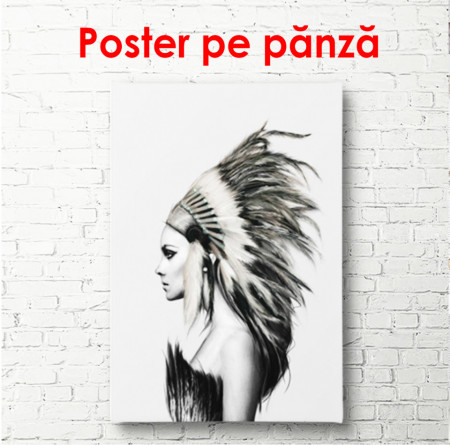 Poster, Fata indiană