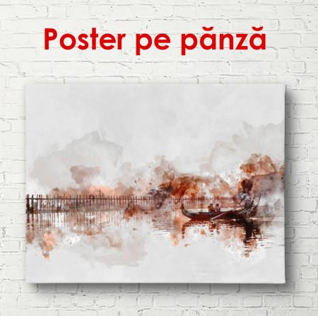 Poster, Orașul abstract în nuanțe de bej