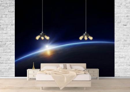 Fototapet, Apusul de soare în Cosmos