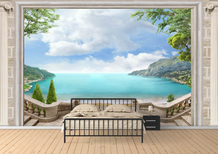 Fototapet Fresco, O fereastră spre o lume minunată
