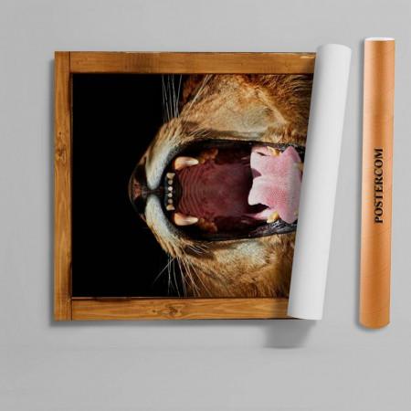 Stickere 3D pentru uși, Răgetul leului , 1 foaie de 80 x 200 cm