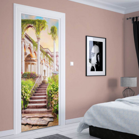 Stickerele decorative, pentru uși, Curtea palatului , 1 foaie de 80 x 200 cm