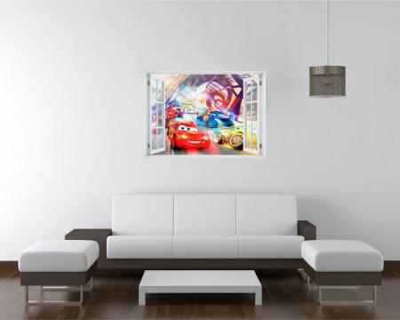 Fereastră falșă, Fereastra 3D cu vederea spre cursa lui Fulger McQueen