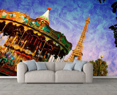 Fototapet Fresco, O plimbare minunată în Paris