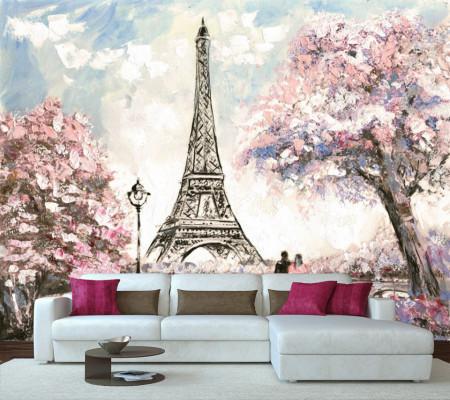 Fototapet Orase, Cuplu pe fundalul Turnului Eiffel