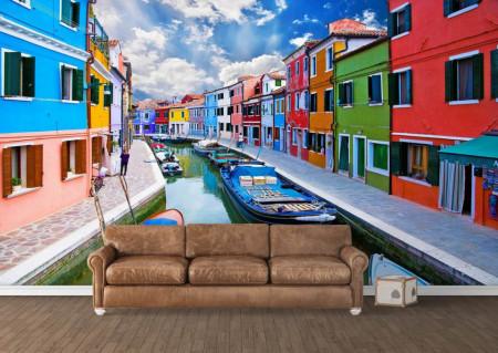 Fototapet Orase, Italia în culori strălucitoare