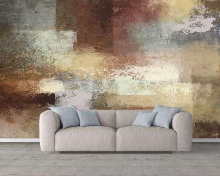 Fototapet, Un perete abstract în tonuri de culoare brună