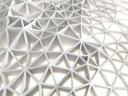 Fototapet, Zidul din triunghiuri