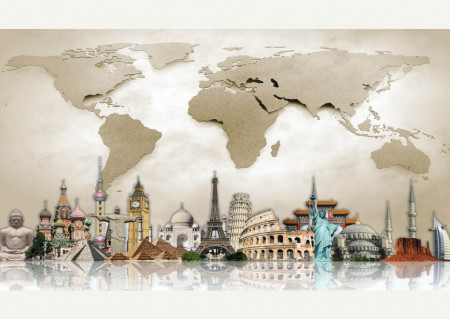Fototapete, Globuri geografice multicolore