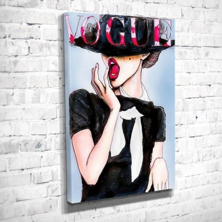 Poster, Femeie în rochie neagră și cu pălărie
