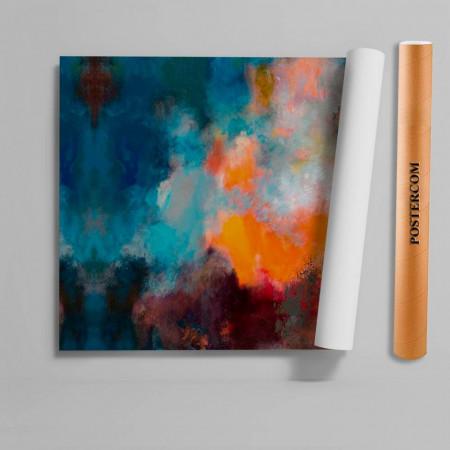 Stickere 3D pentru uși, Explozia culorilor, 1 foaie de 80 x 200 cm