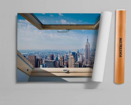 Stickere pentru pereți,Fereastra cu vedere spre New York
