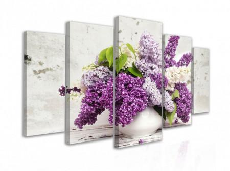 Tablou modular, Flori de liliac într-o vază