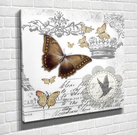 Tablouri Canvas, Fluturea maro